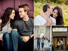 Couple pose. Left - Great background. Dramatic effect. Top right - good angle to obscure the guy's features, chin and nose.