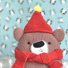 Designed as a simple introduction to knitting texture, this knitting pattern takes you step-by-step through knitting and making up a simple teddy bear in various types of knitting stitch. Suitable for knitters with basic knitting experience. Types Of Knitting Stitches, Knitting Patterns, Sewing Needles, Knitting Needles, Softies, Dog Love, Knit Crochet, Hello Kitty, Teddy Bear