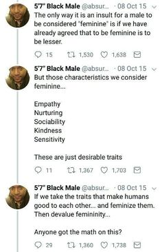 """Or we could just agree that the shallow, prancing version of femininity is debasing and to have it associated with being """"female"""" is harmful to women Intersectional Feminism, Patriarchy, Equal Rights, Faith In Humanity, Social Justice, Thought Provoking, In This World, Equality, Just In Case"""