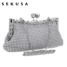 d2107202240 Diamonds women evening bags small purse clutches handbags silver gold black  rhinestones evening bags for wedding