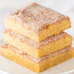 The Best Snickerdoodle Bars. I always double the recipe for a 9x13 and they turn out great!