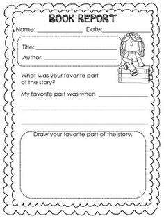 Printable Book Report Forms  Elementary   The white  Search and Track Template Lab Biography book report forms for  rd grade