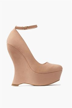 Pandora Wedges in Nude - such a unique style.