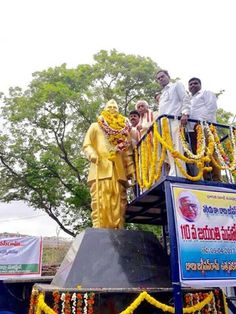 "Paid floral tributes to Shri Babu Jagjivan ram ji on his 110th Birth anniversary at Palwancha, Bhadradri Kothagudem district, Telangana on 5th April, 2017. On this occasion I shared my thoughts that Shri Narendra Modi ji's Govt under the scheme ""Start Up India"" is giving top priority for the upliftment of the SCs and is committed for the categorization of the Scheduled Castes. I demanded Govt of Telangana to fill all the backlog posts of SCs & STs and that will be a big tribute to Babu…"