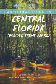 "Looking for fun things to do in Kissimmee? One of the most common questions we get as travel experts based in Florida is, ""What else is there to do in Orlando / Kissimmee besides theme parks?"" Central Florida has lots to offer for those looking for adventures. Check out this weekend itinerary including kayaking, bike rentals and hotels in Kissimmee."