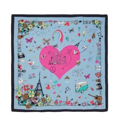FOULARD FANTASIA FLOREALE LOVE PEACE CODELLO