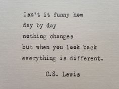 C.S. Lewis quote hand typed on antique typewriter