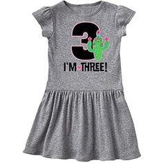 inktastic 3rd Birthday Flower Wreath 3 Year Old Girl Toddler Long Sleeve T-Shirt