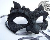 Dragon Face Mask by Lisa Sell on Etsy