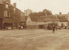 Church Street, Waltham Abbey, showing the Welsh Harp PH with Abbey Tower behind. Waltham Abbey, Harp, Welsh, Old Photos, Childhood Memories, Tower, British, Street View, London