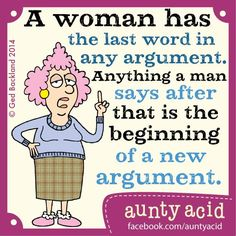 Giggles with aunty acid