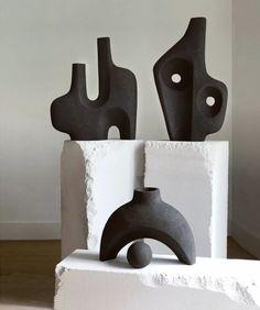 Pottery Sculpture, Sculpture Clay, Abstract Sculpture, Modern Art Sculpture, Organic Sculpture, Sculpture Ideas, Contemporary Ceramics, Modern Ceramics, Ceramic Pottery