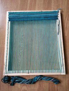 Y first loom with my own yarn! By Levrierdesigns