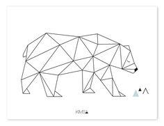 Lilipinso Kinder-Poster 'Origami-Bär' schwarz/weiß 30x40cm - im Fantasyroom Shop online bestellen oder im Ladengeschäft in Lörrach kaufen. Besuchen Sie uns!
