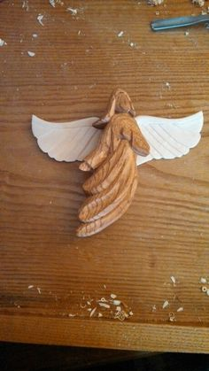 Angel made out of butternut & basswood