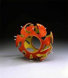 Bracelet |  Dan Jocz.  Aluminium, Ryon Flocking, Rubber