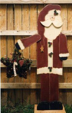 Santa Wood Craft Tall for the porch.  Christmas Craft,  Santa