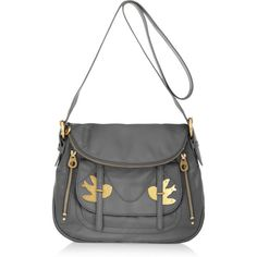 Marc by Marc Jacobs Natasha Petal to the Metal leather shoulder bag ($440) ❤ liked on Polyvore