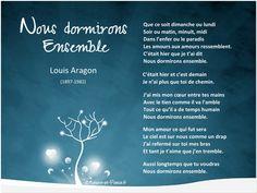Nous dormirons ensemble. Louis Aragon