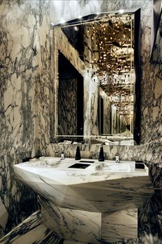 Marble room.