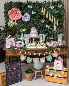 Genius Kitchen Organization Hacks - New Ideas Butterfly Birthday Party, Butterfly Baby Shower, Bird Party, 2nd Birthday Parties, Baby Birthday, Birthday Party Decorations, Angel Theme, Bird Theme, Glamour Party