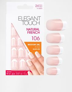 Elegant Touch Natural French Oval Nail