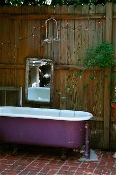 The Hope & Glory Inn somewhere in VA.  Saw this outdoor tub in a magazine and now I want to go there!
