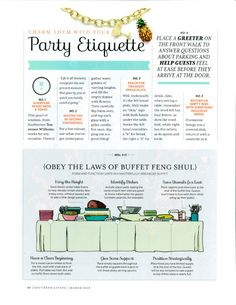 Ettiquette | how to proper set a buffet | Party Etiquette www.cvlinens.com More