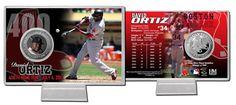 "David Ortiz ""400th Home Run"" Silver Coin Card"