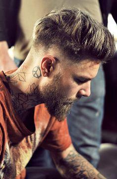 Beard Styles For Men, Hair And Beard Styles, Short Hair Styles, Undercut Hairstyles, Cool Hairstyles, New Beard Style, Style Men, Popular Mens Hairstyles, Beard Tattoo