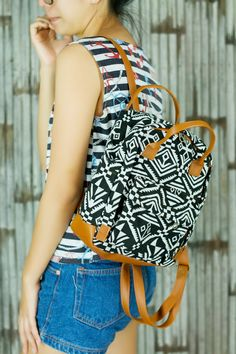 2 Style Abstract tribal native design backpack School Bag/ Ethnic rucksack/ holiday bag / Hippie /Boho ethnic gypsy woven tapestry handbag