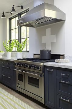 James R. Salomon Photography - kitchens - blue, kitchen cabinets, marble, countertops, blue cabinets, blue kitchen cabinets,  Jeanne Rapone ...