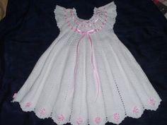Vestidos para niña tejidos a crochet - Imagui