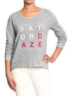 Women's Terry-Fleece Graphic Sweatshirts | Old Navy
