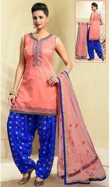 Chanderi Silk Salmon Color Straight Cut Punjabi Patiyala Readymade Dresses   FH500476561 #punjabi , #patiyala, shindhi, #suits, #narrow, #dresses, #salwar, #kameez, #straight, #long, #heenastyle, #indian, #online, #shopping, #clothing, #womens, #girls, #style, #mode, #henna, #hina, #mehendi, #dupatta, #chudidar, @heenastyle , #pakistani, #readymade