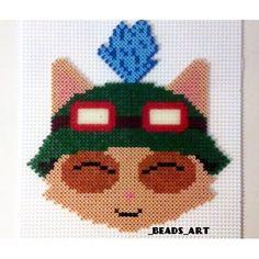 Custom Teemo (League of Legends) perler beads by _beads_art