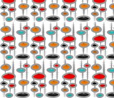 Space Age Spheres fabric by egnatz on Spoonflower - custom fabric
