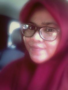 Hijab and glasses