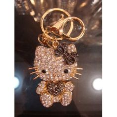 13d7266c7d Amazon.com  Hello Kitty Keychain Purse Charm Austrian Crystals  Everything  Else