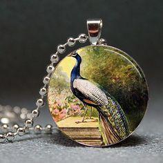 Vintage peacock pendant