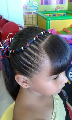 Little Girl Hairstyles, Hairstyles For School, Cute Hairstyles, Girl Hair Dos, Baby Girl Hair, Hair Creations, Toddler Hair, Crazy Hair, Dyed Hair
