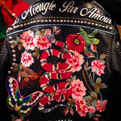 Blinded by love for this biker jacket @gucci @bof #mfw @serpentine #union of the snake #alessandromichele