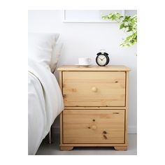 Second hand pine bedside table to go between bed and arm chair