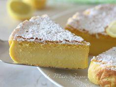 Torta al limone cremosa ricetta dolce senza farina Basic Cake, Cheesecake Cupcakes, Sweet Pie, Italian Desserts, Bakery Recipes, Vanilla Cake, Sweet Recipes, Cupcake Cakes, Food And Drink
