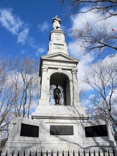 American Civil War Memorial on the Cambridge Common outside of Harvard Square