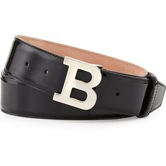 Bally Patent B-Buckle Belt ($295) via Polyvore featuring mens, men's accessories and men's belts