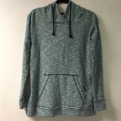 Vans Hoodie Excellent condition. Beautiful blue-ish color. Fraying detail at pocket and wrist seams. Vans Tops Sweatshirts & Hoodies