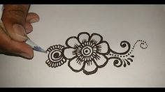 Mehndi Class for Beginner- Techniques for Equale Petaled Arabic Shaded Flowers with Description - YouTube