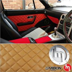 ❤ CarbonMiata Quilted Door Cards for the NA  100% plug and play / large choice of colors and materials: suede leather, faux leather, real leather / large choice of stitching colors / transmission tunnel cover, rear parcel shelf cover and side sills covers also available.  Place your order at: www.TopMiata.com (& Earn up to 320 Points for Discount on future purchases!)