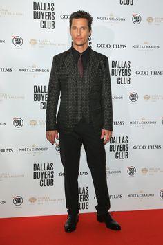 Matthew McConaughey at the Dallas Buyers Club Rome premiere in Dolce & Gabbana.